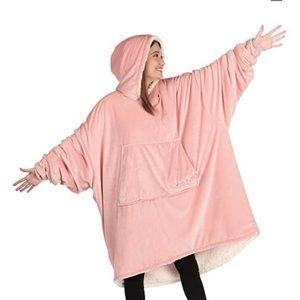 Hot pink comfy oversized hoodie blanket